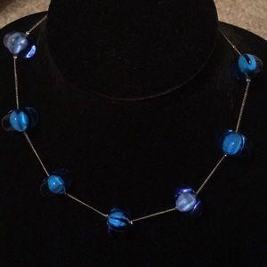 Vintage Sent Murano Blue Glass Necklace